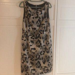 ANN TAYLOR lined animal print sheath dress